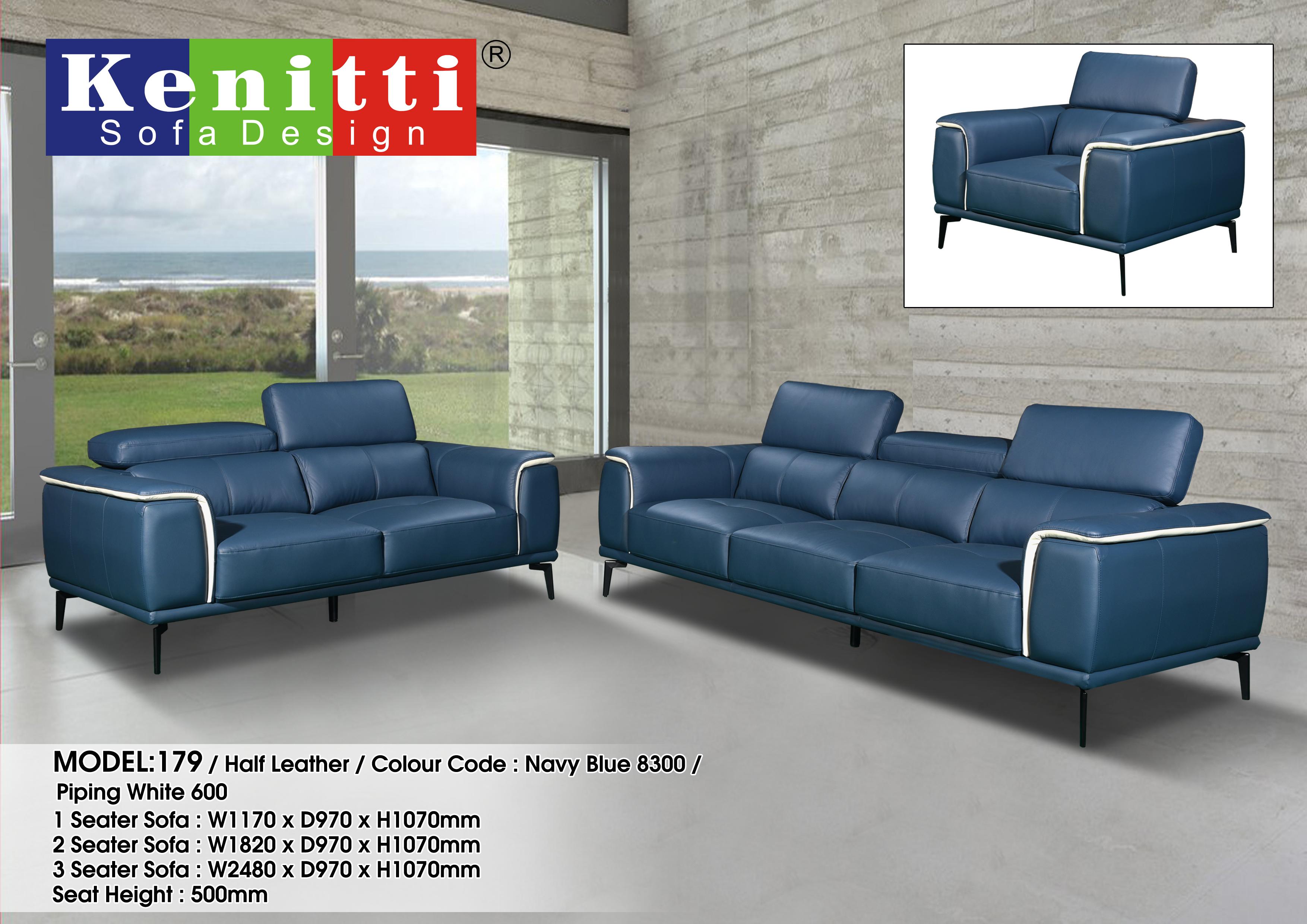 Model - 179 - 1 + 2 + 3 Half Leather