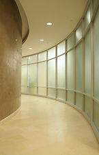 Curved Glass Partition Wall
