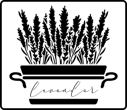 Schablone Big Lavender Plant