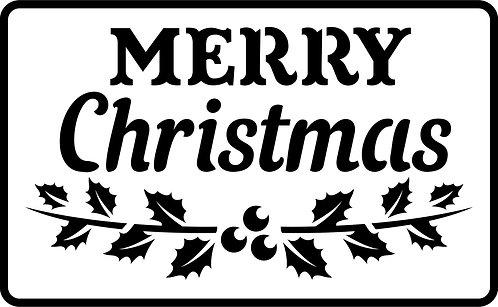 Schablone Merry Christmas
