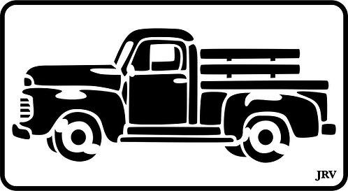 Schablone Vintage Truck