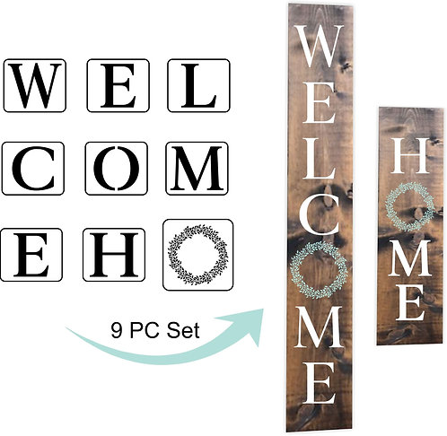 Schablone Welcome and Home Stencils
