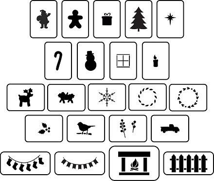 Schablone ChristmasHouse Accessories