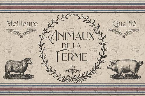 JRV Decoupagepapier De La Ferme