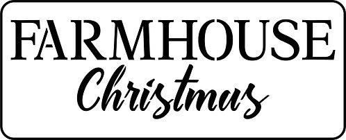 Schablone Farmhouse Christmas