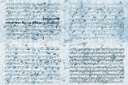 JRV Decoupagepapier  Music Notes