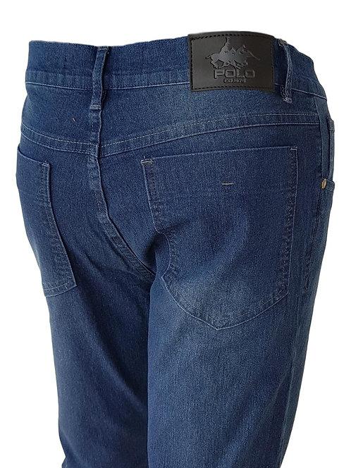 Calça Jeans Black/Blue Dye - Polo Jeans 75 Slim Stretch Denim