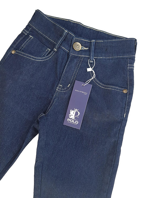Calça Jeans Kids Black/Blue - Polo Collection
