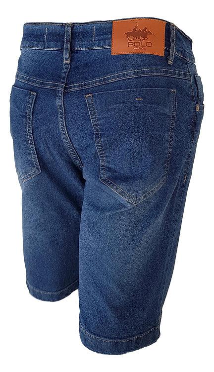 Bermuda Jeans Blue Dye - Polo Jeans 75 Slim Stretch Denim
