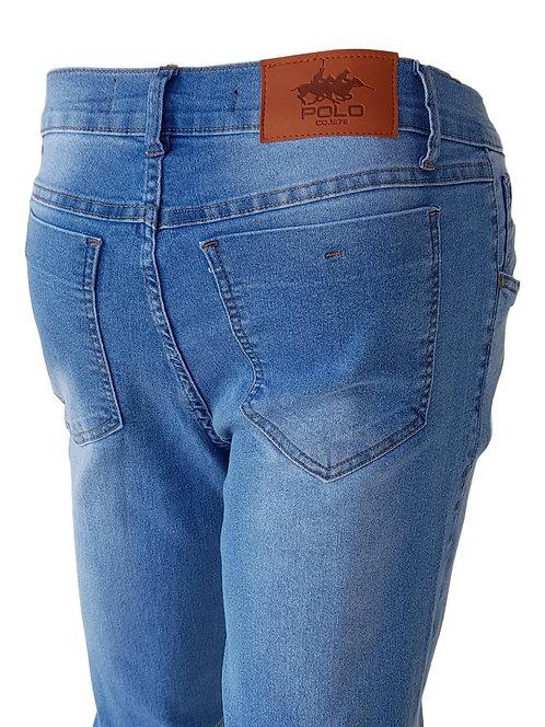 Calça Jeans Light Blue Dye - Polo Jeans 75 Slim Stretch Denim