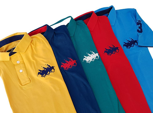 Kit 5 Polos Deluxe - Polo Collection