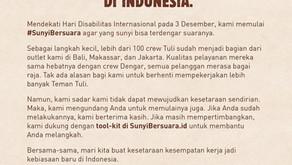 Perusahaan Inklusi Burger King Indonesia Luncurkan Sunyi Bersuara