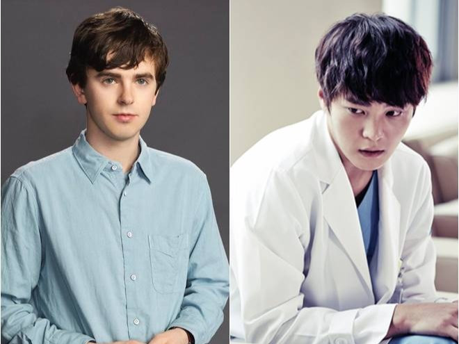 Shaun Murphy (Freddie Highmore, kiri) dan Park Shi-On (Joo Won, kanan) (Sumber: International Business Times)