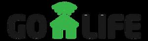 Logo GO-Life, tulisan go-life dengan rumah di tengah