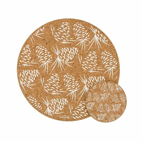 Cork placemats set of 4