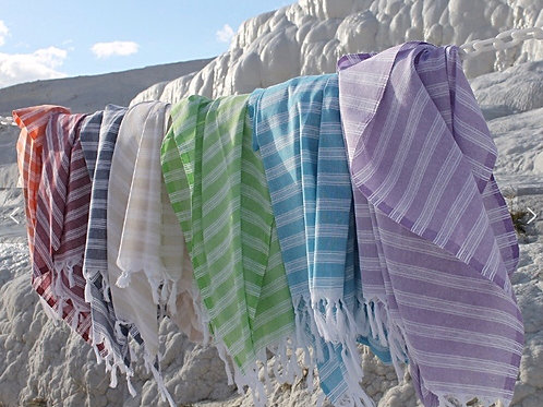 Organic bamboo and cotton turkish towel