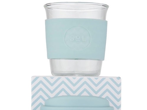 Sol hand-blown 8 oz glass cup