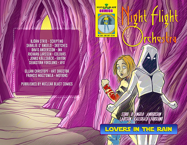 The Night Flight Orchestra Comicbook Cover