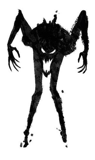 L'uomo del sottoscala, disegno di Elia Cristofoli