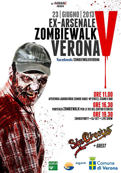 Manifesto Zombie Walk V 2013, design di Elia Cristofoli