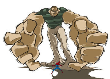 Uomo Sabbia VS Spiderman