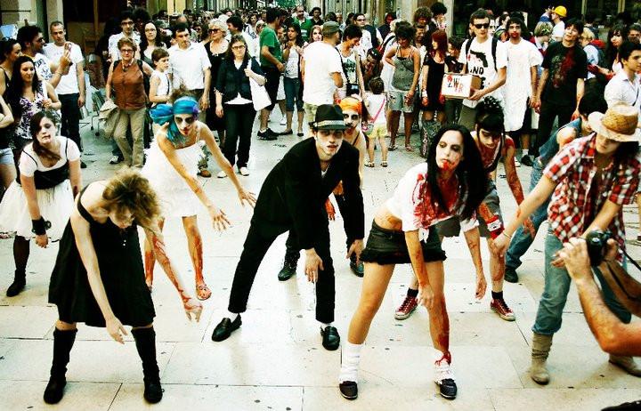 Il balletto in Piazza Erbe