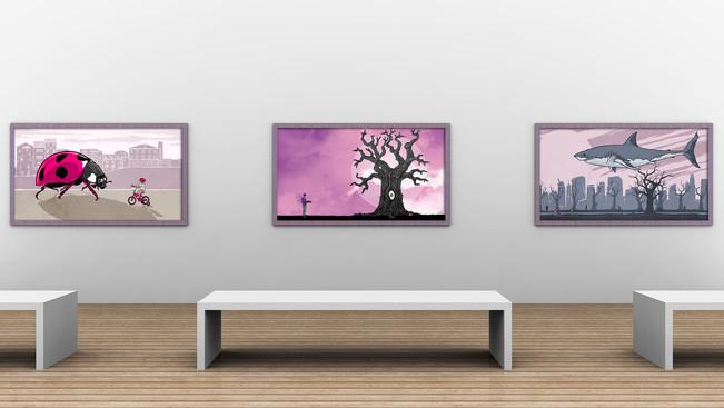 Illustrazioni in esposizione