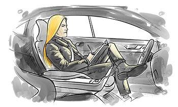 Colin che disegna nella sua autonomobile © Elia Cristofoli 2018