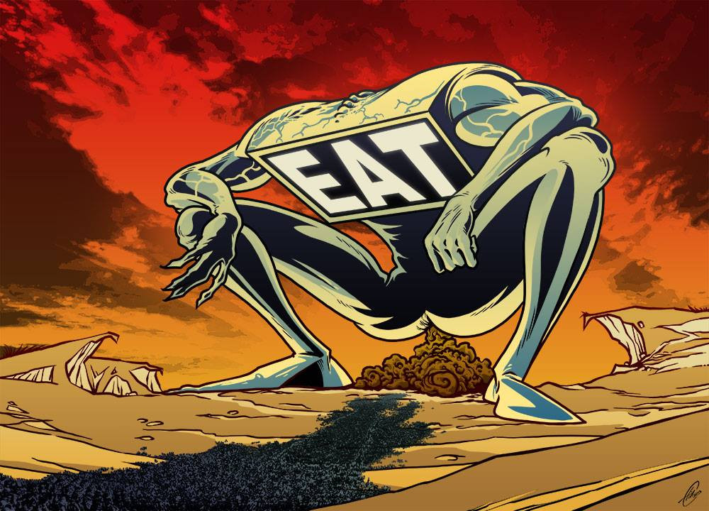 EAT — Media shit food for idiots.