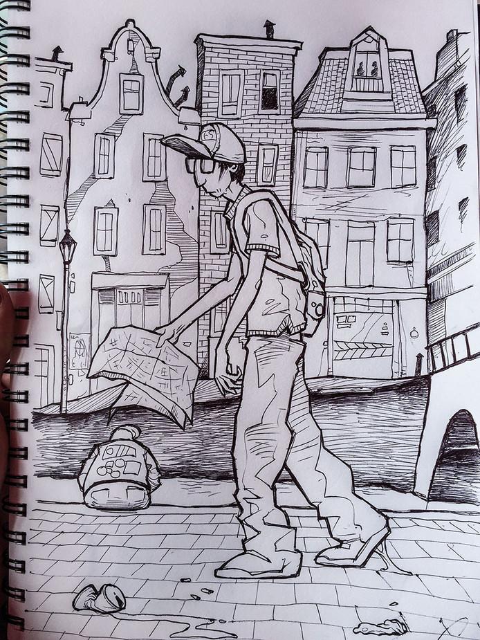 Turista ad Amsterdam