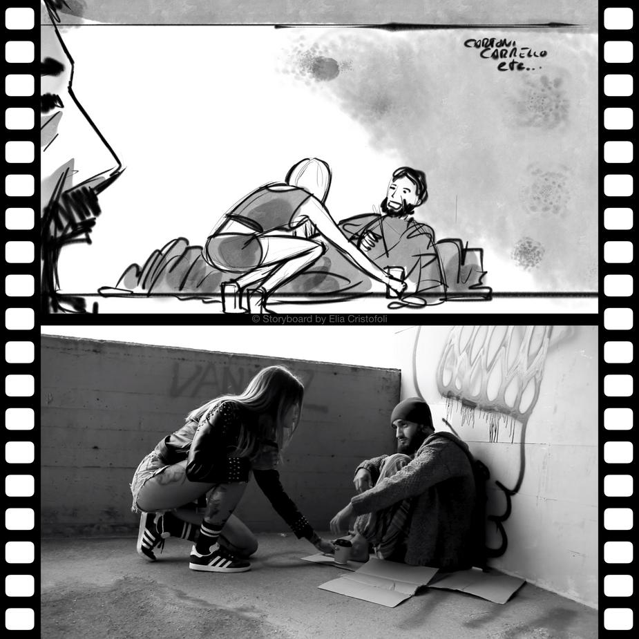 Omar Pedrini music video storyboard