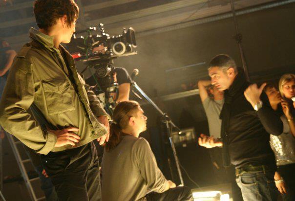 """Sul set, io alla regia e Giangi che mi """"raddrizza"""" (2006)"""