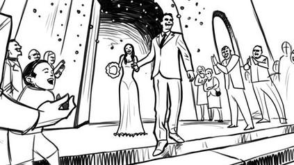 Sroryboard XV Just Married