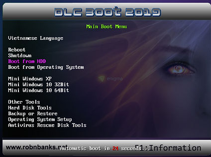 DLC Boot 2019 v3.6 Main Boot Screen