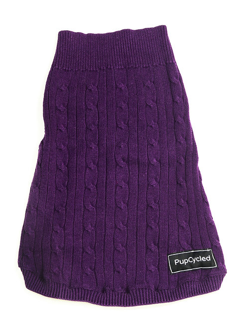 Purple Chunky Knit Medium Sweater