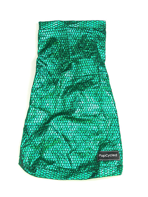 Green Shiny Mermaid Print Medium Playsuit