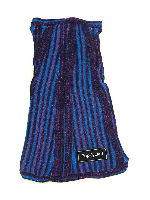 Purple and Blue Sparkly Striped Medium Sweater