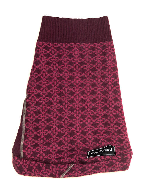 Purple Patterned Medium Sweater