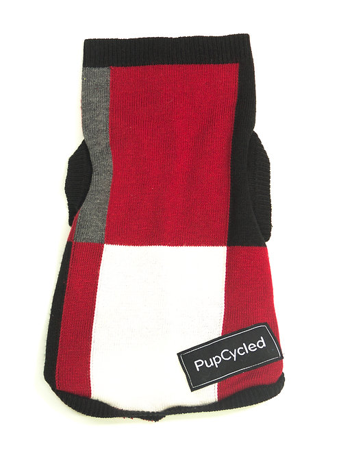 Red, Gray, and Black Color Block Extra Small Sweater