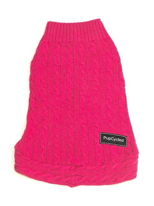 Pink Chunky Knit Medium Sweater