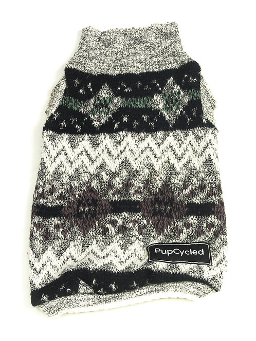 Gray Winter Patterned Small Sweater