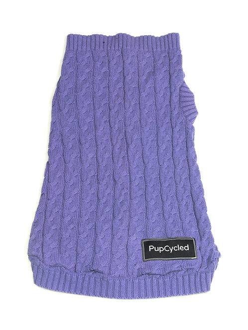 Light Purple Cable Knit Small Sweater