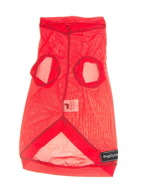 Red Mesh Medium Playsuit