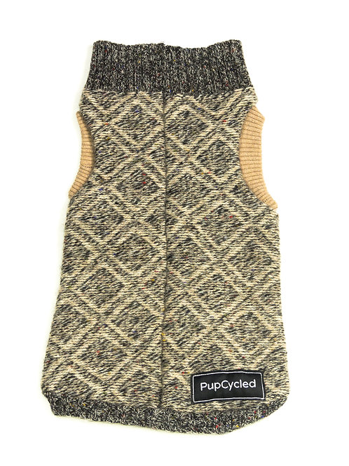 Brown Patterned Small Sweater