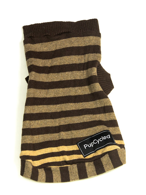 Brown Striped Extra Small Sweater