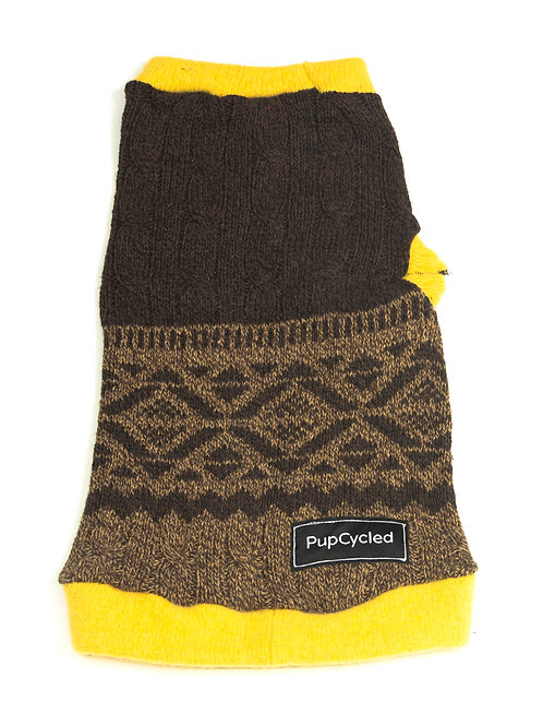 Brown and Yellow Small Sweater