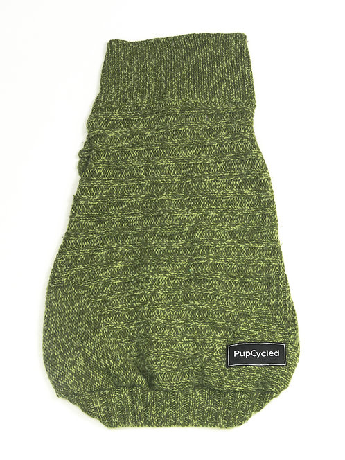 Green Knit Large Sweater