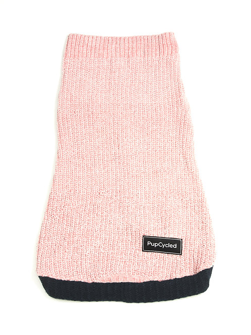 Pink and Navy Blue Large Sweater