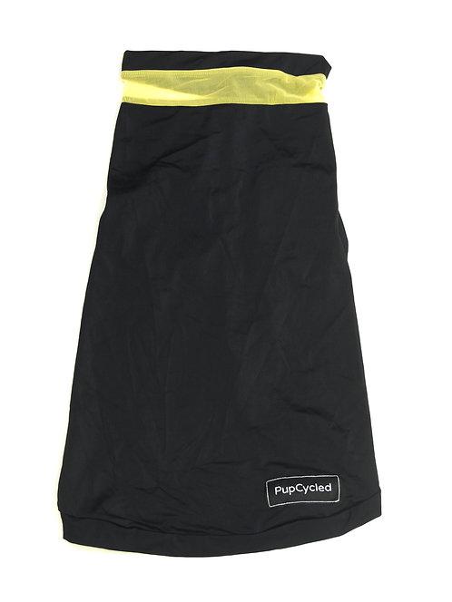 Black and Yellow Mesh Medium Playsuit
