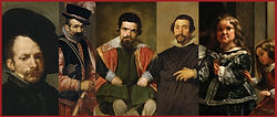 Velazquez portraits of dwarfs and jesters.  These are the characters in Los Bufones.